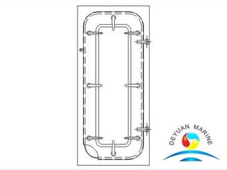Marine MB Light Type Steel Waterlight Door For Ship
