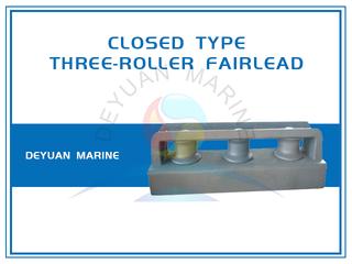 JIS F2014 Closed Type Three Roller Fairlead