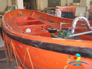 Diesel Engine FRP?Material Marine Open Lifeboat For All Ships