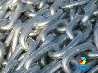 Grade 2 Ship Electronic Galvanized Studless Link Anchor Chain