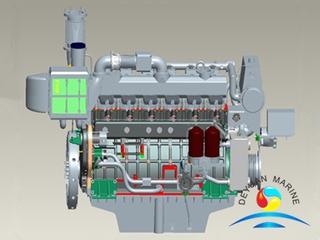 410KW 6170 Series Weichai Marine Dual-fuel Diesel Engine