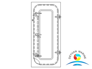 Marine BA Type Steel Semi-watertight Door For Boat