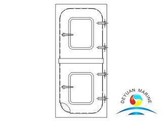 BC Type Marine Steel Two Half Leaf Semi-watertight Door