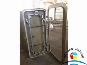 Ship Quick Acting Single Handle Aluminium Watertight Door 8mm Thickness