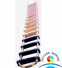 Marine Embarkation Rope Ladder Wood Steps With CCS Certificate
