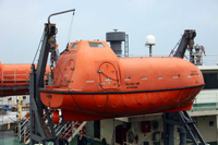 Lifeboat Prepared for Operation