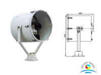 Marine Grade TG28-B 2000W Searchlight for Commercial Boat