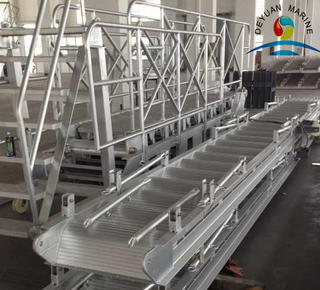 Deyuan ship boat aluminium gangway ladder with DNV certificate