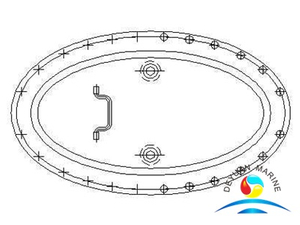 Marine Boat Steel Oval Sunk Type Manhole Cover With Shield