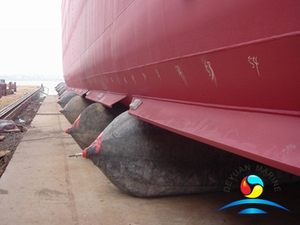 Marine Natural Rubber Ship Launching Airbags With Different Cord Layers