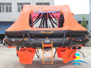 ADL Type 12 Man Davit-launched Inflatable Liferaft With EC-GL Certificate