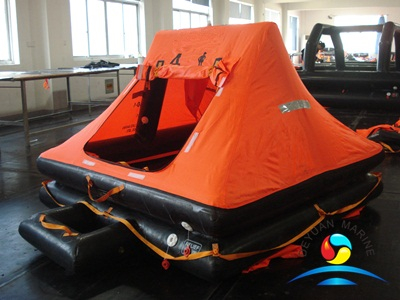 SOLAS YT Type 4 Man Throw-overboard Yacht Inflatable Marine Life Raft