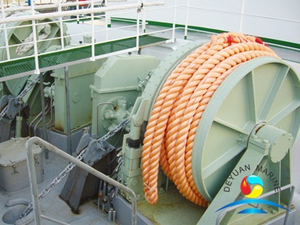 Hydraulic Horizontal Anchor Handling And Towing Winch For Ship