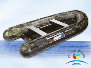 Customized Strong Material Colorful Inflatable Rib Boats With Outboard Motor