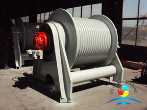 500KN Marine Single Drum Electric Winches For Dredger