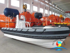 SOLAS 15 Persons Capacity Inflated Fender Rigid Fast Rescue Boat