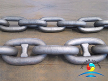 Marine Mooring Grade AM2 Cast Steel Stud Link Ship Anchor Chain