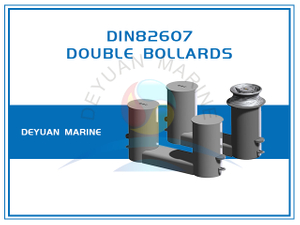 Double Bollards DIN82607 for Boats