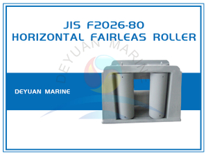 Type A JIS F2026 Roller Fairlead With Horizontal Rollers