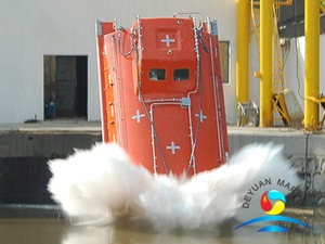 Common Type FRP Freefall Lifeboats With Launching Appliance for Cargo Ship