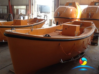 SOLAS Approval FRP Material Marine Open Type Used Rescue Lifeboats