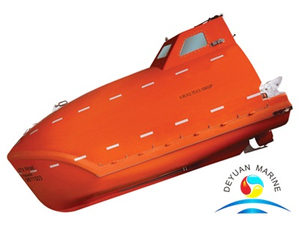 SOLAS F.R.P Totally Enclosed Free Fall Lifeboat With Diesel Engine