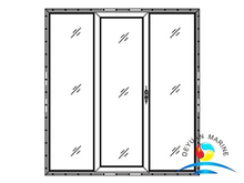 Marine Twin-leaves Fixed Single-leaf Slided Aluminium Sliding Door For Boat
