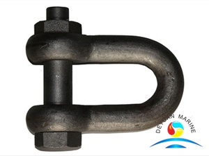 European Type Large Bow Safety Threaded Pin Crane Shackle Galvanized