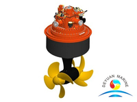 Marine Twin Counter-rotating Propellers Azimuth Thruster For Ship