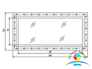 Ship Double-layers Hollowed Glass Soundproof Window With Aluminium Alloy Frame