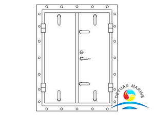 Twin-leaves Square-corner Ship Aluminium Weathertight Hollowed Door