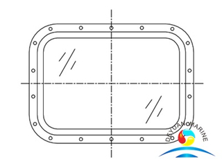 Model 212 NK Approved Boat Aluminum Frame Fixed Rectangular Window