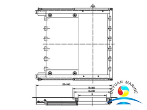 Marine A60 Hydraulic Watertight Sliding Door For Boat
