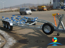 Hot Dipped Galvanized Three Axis Marine Yacht Boat Trailer