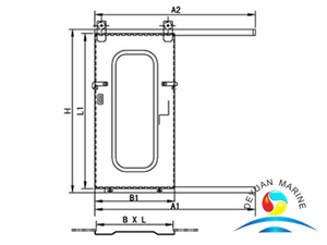 Marine Single Leaf Non-watertight Steel Sliding Door With CCS