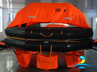 CCS Approval SOLAS 25 Man Throw Over Board Inflatable Life Raft
