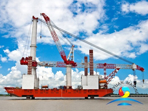 Vessel Electric Motor and Hydraulic Jack Up System Crane