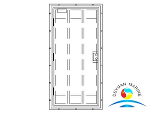 Marine Steel Soundproof Choke Door Without Window For Ship