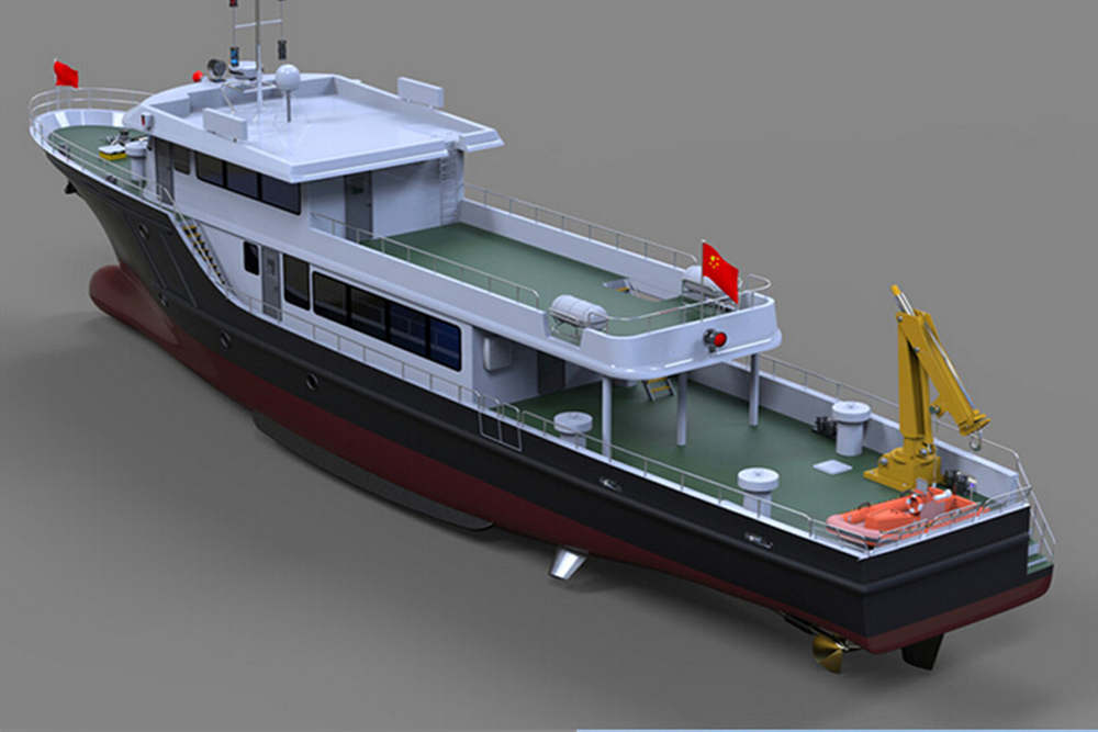 33.8m Fishing Boat Fiberglass Commercial Fishing Boat