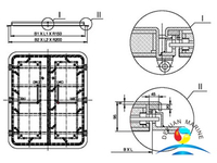 Marine A60 Weathertight Double-leaf Steel Door For Ship