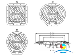 QL-403 Alummium Sunk Type Watertight Hatch Cover (With hinge)