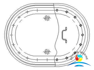 Marine Long Circular Sunk Type Manhole Cover For Ship