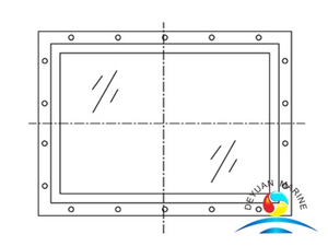 Model 213 Marine Aluminium Fixed Type Rectangular Window With BV