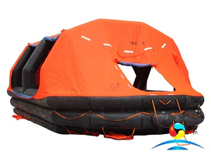 ASR Type 100 Persons Self-Righting Inflatable Life Raft With SOLAS A Pack