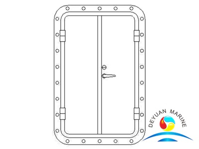 Marine Twin-leaves Round-corner Aluminium Hollowed Door For Ship